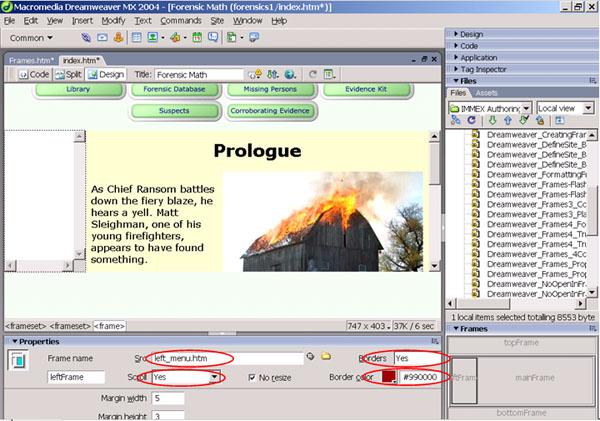 Authoring IMMEX Problem Sets with Dreamweaver